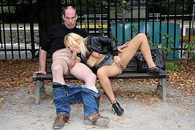 sexe en public dans un parc pour un couple anglais